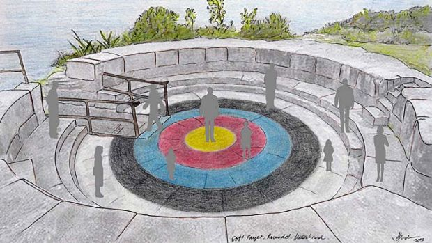On target: An impression of Abdullah M.I. Syed's plans for a battlement .