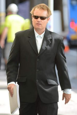 Luke Mewing arrives at the Police Integrity Commission in Sydney.