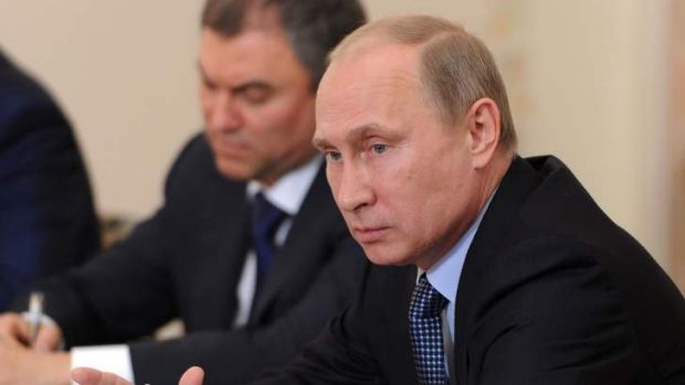 Russian President Vladimir Putin  ... taking the lead role in solving the Syrian crisis.