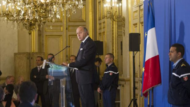 France's Foreign Minister Laurent Fabius in Paris on  Tuesday.  He  reportedly called his Russian counterpart, Sergei ...