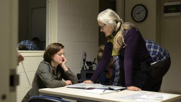 Jane Campion and Elisabeth Moss in from <i>Top of the Lake</i>.
