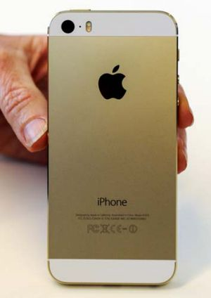 Apple's iPhone 5S in gold.