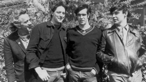 The Sunnyboys at the height of their fame in the 1980s - Richard Burgman, Peter Oxley, Bill Bilson and Jeremy Oxley.
