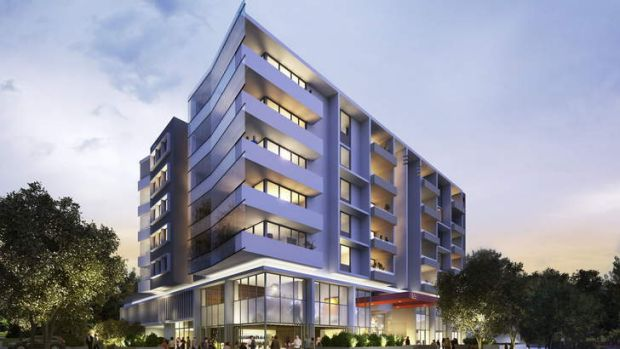 Artist impressions of a new six-storey development in Campbell called The Creswell.