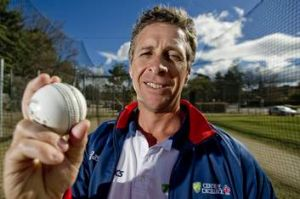 Troy Cooley at Canberra's Manuka Oval on Wednesday.