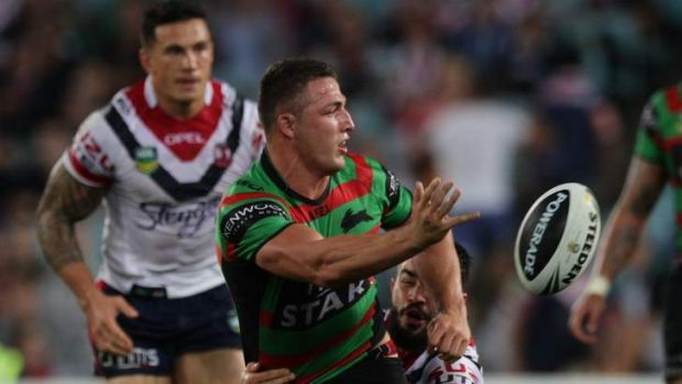 Call for calm: Rabbitohs great Mario Fenech wants to see improved composure from Englishman Sam Burgess.