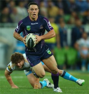 Bomber: Storm half-back Cooper Cronk, whose kicking will test the Rabbitohs on Friday.
