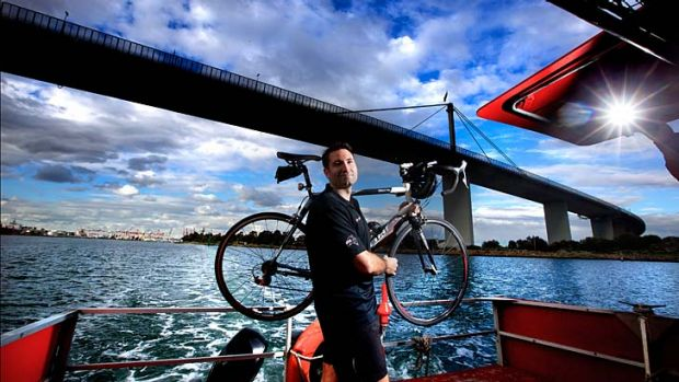 Regular commuter Benjamin Laurins lives in Seaholme and rides into the city for work via the 'Punt'.