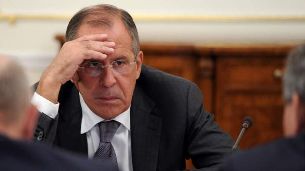 Russia's Foreign Minister Sergei Lavrov ... preparing to discuss on Thursday a Russian plan to collect and destroy ...