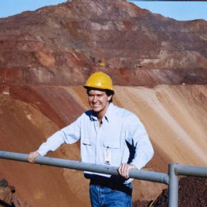 Forged in iron … John aged 21 at the Sishen Iron Ore Mine in South Africa.