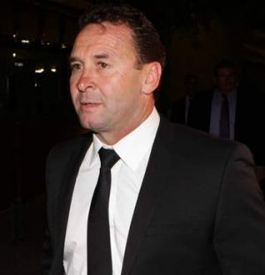 All dressed up with somewhere to go: Ricky Stuart.