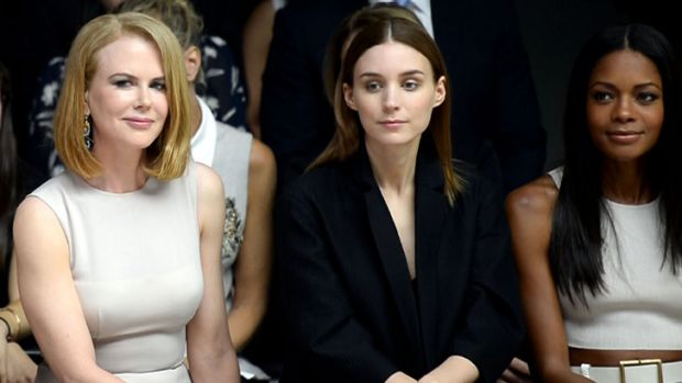 Prior to the accident Nicole Kidman sat front row at the Calvin Klein Collection show at New York Fashion Week with ...