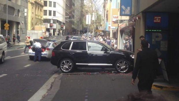 The Porsche Cayenne reportedly used in the attack.