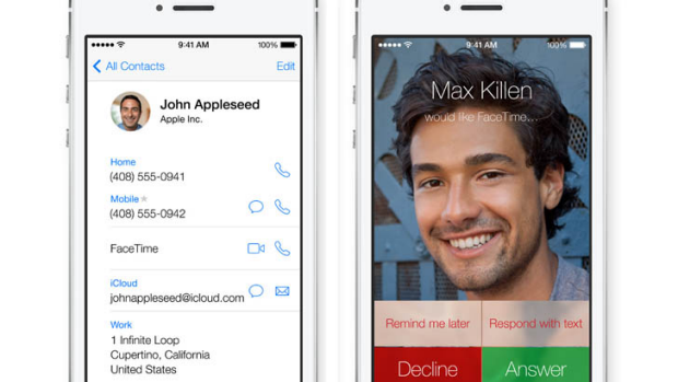 FaceTime in iOS 7 now has an audio-only option.
