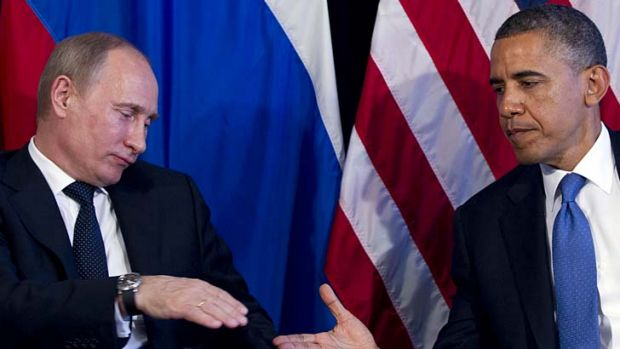 Reluctant allies: Vladimir Putin and Barack Obama.