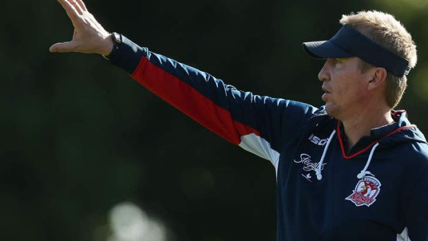 Impact: Roosters coach Trent Robinson.