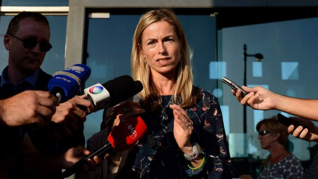 Libel trial: Kate McCann, Madeleine's mother, speaks outside court in Lisbon on Thursday.