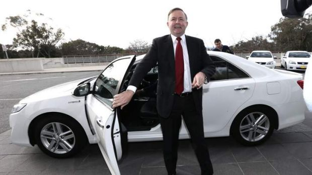 """Anthony Albanese arrives at Parliament House: """"Bill is a friend of mine, and I think he would make a very good leader."""""""