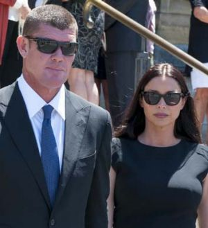 James and Erica Packer before their split.