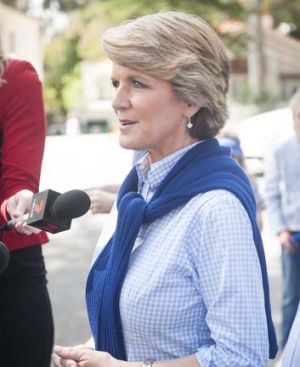 Cutting costs: Julie Bishop.