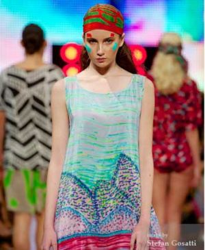 Vibrant and colourful style was in at Fashion Central.
