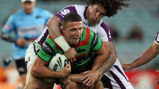 Firing line: Sam Burgess says he learnt a valuable lesson following his eye rake on James Maloney.