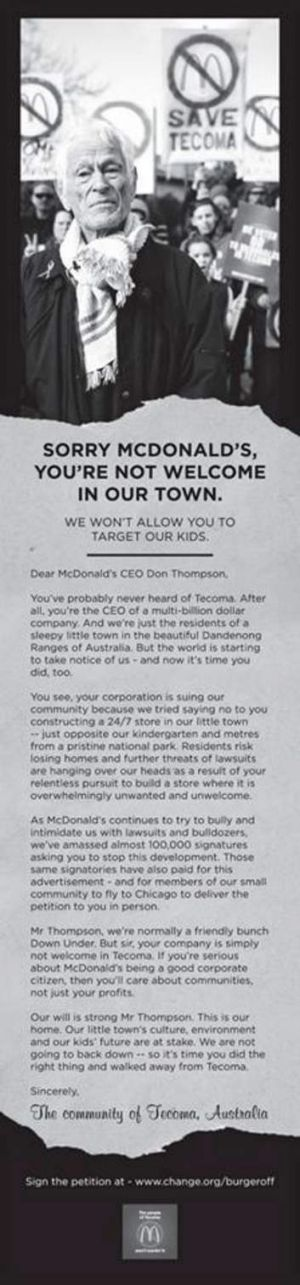 Tecoma Ad in the Chicago Tribune, September 13, 2013.