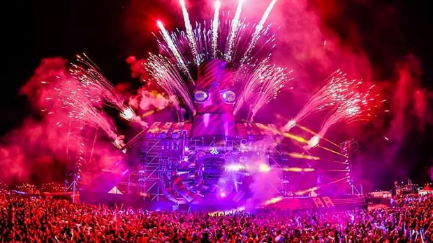 Riot of colour: rvellers at the Defqon festival