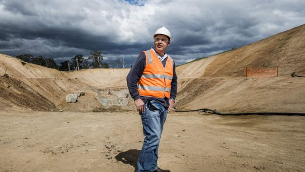 Major contractor, Andy Divall, in the box cut at the mine, where they will soon begin tunnelling.