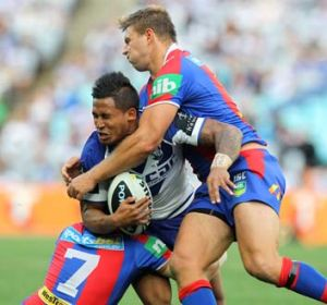 Buckling under pressure: Ben Barba and the Bulldogs are out of the NRL finals.