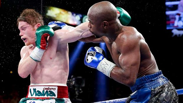 Dominant: Floyd Mayweather was in fine form during his Las Vegas bout with Saul Alvarez.