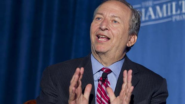 Out of the race: Larry Summers was favoured to take over from Ben Bernanke.
