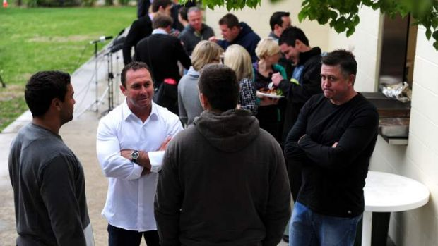 Raiders coach Ricky Stuart gets to know players and support staff at the club.