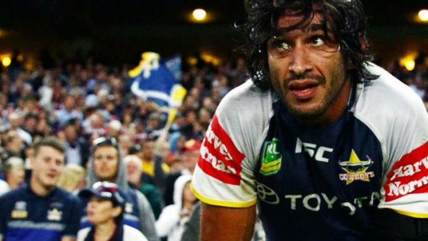 Too emotional: Johnathan Thurston.