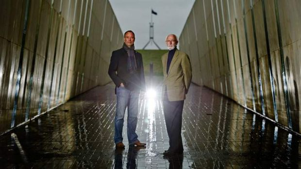 ANU's Ken Taylor (right) and World Heritage Institute expert Dr Ron van Oers will speak at a conference on Canberra.