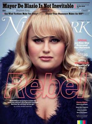 Up and down: Rebel Wilson features on the cover of <i>New York</i> magazine.