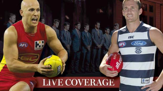 The leaders: Gary Ablett and Joel Selwood were named vice-captain and captain respectively in the AFL All-Australian team.