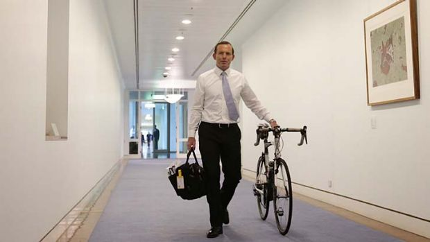 Easy rider: Tony Abbott has named only one woman in his cabinet, Julie Bishop.