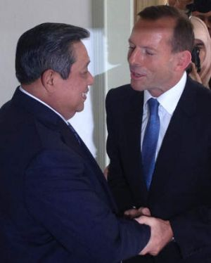 Tony Abbott meets Susilo Bambang Yudhoyono in Indonesia last year.