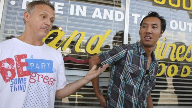 Restaurant owner Oui Suthamtewakul, right, and Michael Ritrovato speak about working with Aaron Alexis, who was once ...