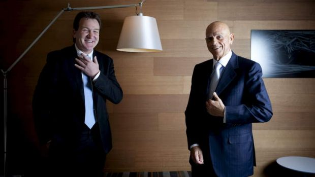 In harmony: Mark McInnes and Solomon Lew on who's responsible for retail weakness.