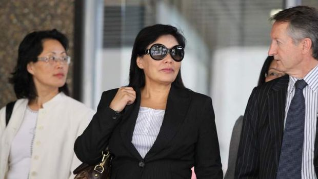 Helen Liu leaves the Supreme Court in Sydney 2011.