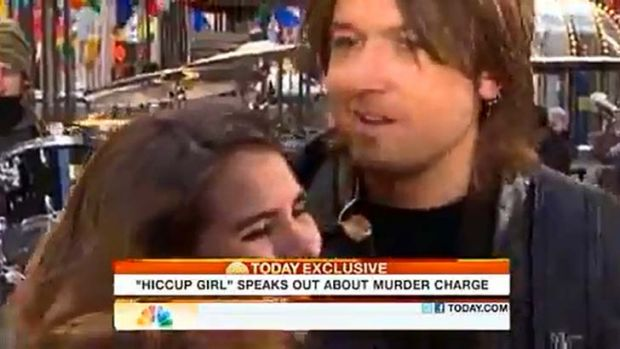 Jennifer Mee was hugged by Keith Urban on the Today show.