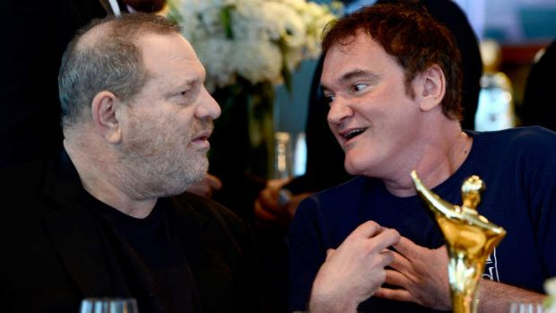 With Quentin Tarantino at the AACTA International Awards ceremony in Los Angeles in January.