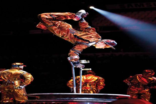 The show has already travelled through Europe. Photo: OSA Images | Costumes: Zaldy Goco / ©2012 Cirque-Jackson I.P., LLC