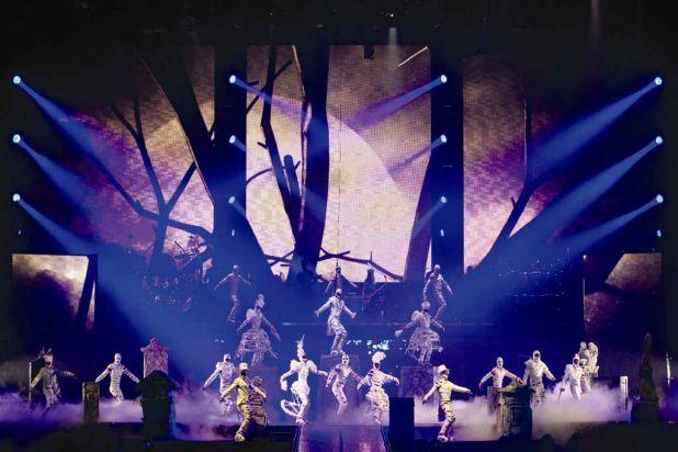 The show has already travelled through Europe. Photo: OSA Images | Costumes: Zaldy Goco / ©2012 Cirque-Jackson I.P., LLC