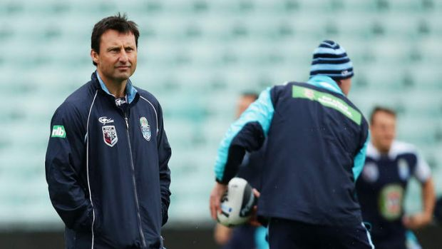 Sticking around: Laurie Daley will coach the Blues for at least the next two years.