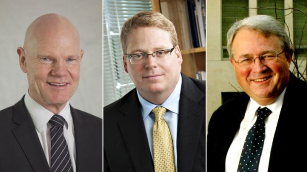 Mixed fortunes: (from left) department heads Don Russell, Blair Comley and Andrew Metcalfe lost their jobs.