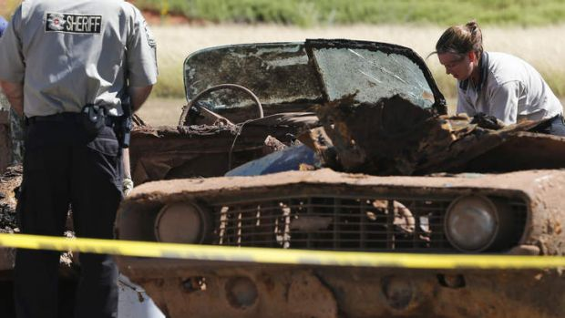 Cold cases: skeletons were found in the two cars.