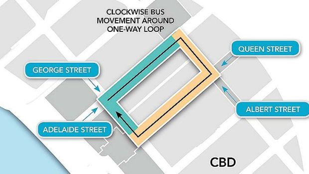 The blue line represents the new tunnel in the bus loop, while the yellow line represents an existing tunnel.